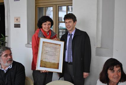 Katrin Bartsch (Vorsitzende Tourismusverein Görlitz) und Matthias Block (Vorstandsvorsitzender Stadtwerke Görlitz AG)
