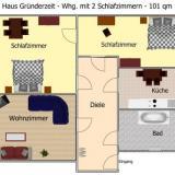Grundriss - Ferienwohnung Haus Gründerzeit - 12