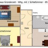 Grundriss - Ferienwohnung Haus Gründerzeit - 21