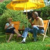 Liegewiese im Garten - Hotel Schellergrund