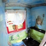 Toilette des Luftschlosses - Kulturinsel Einsiedel - Baumhaushotel: Fionas Luftschloss