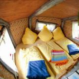 Schlafraum - Kulturinsel Einsiedel - Baumhaushotel: Fionas Luftschloss