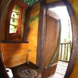 Toilette - Kulturinsel Einsiedel - Baumhaushotel: Baba-Doros Kräuterkate