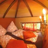 Schlafbereich - Kulturinsel Einsiedel - Baumhaushotel: Bergamos Gäste-Nest