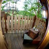 Balkon - Kulturinsel Einsiedel - Baumhaushotel: Bergamos Gäste-Nest