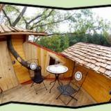 Balkon - Kulturinsel Einsiedel - Baumhaushotel: InselBaumhaus
