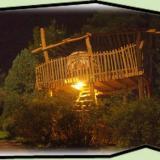 Baumbett bei Nacht - Kulturinsel Einsiedel - Baumhaushotel: Baumbett