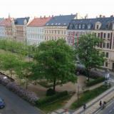 Blick über den Lutherplatz - Ferienwohnung Lutherplatz