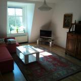 Wohnzimmer - Ferienwohnung Lutherplatz