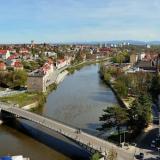 Blick nach Zgorzelec - Pension Miejski - Zgorzelec