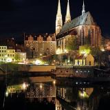 Görlitz bei Nacht - Pension Miejski - Zgorzelec