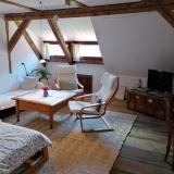 Wohnzimmer - Ferienwohnung am Jacobs-Pilgerweg II